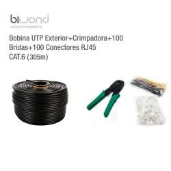 Bobina UTP Exterior 305m Cat.6 + Kit Herramientas BIWOND