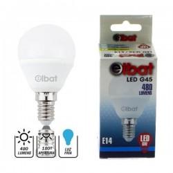 Bombilla LED G45 6W 480LM E14 Luz Fría ELBAT