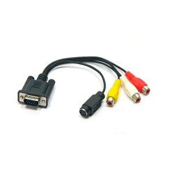 Cable adaptador VGA a RCA S-VIDEO