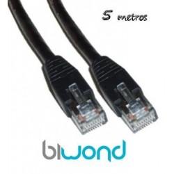 Cable Ethernet 5m Cat 6 BIWOND