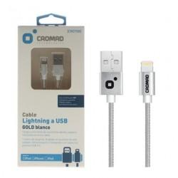 Cable Lightning PREMIUM Blanco 1 Metro CROMAD (Certificado por Apple)