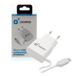 Cargador de Corriente MICRO USB 2.1A CROMAD Blanco