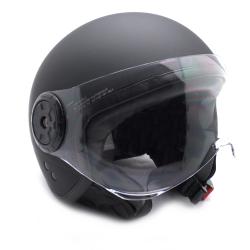 Casco Moto Jet Negro con gafas Protectoras Talla L