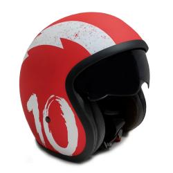 Casco Moto Jet Sunra Rojo Talla L