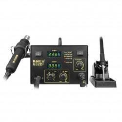 Estación de Soldadura y Pistola de Aire Caliente 640W 2 en 1 BAKU-852D+