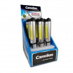 Expositor 12 x Linternas Profesionales Inspección LED 3W COB Camelion