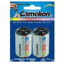 Funda Adaptadora de Aluminio AA/R06 a D/R20 (2pcs) Camelion