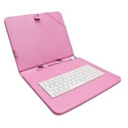 """Funda Tablet Teclado 8"""" Rosa"""