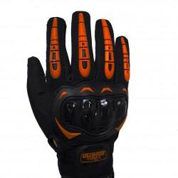 Guantes Táctiles Antideslizantes Moto Naranja Talla M