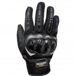 Guantes Táctiles Antideslizantes Moto Negro Talla M