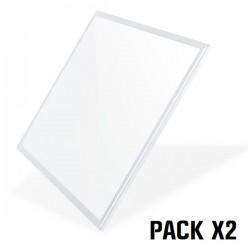 Pack 2 Paneles LED 4000K 60x60 40W Luz Amarilla ELBAT
