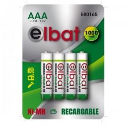 Pack 4 Pilas Recargables AAA 1000mAh ELBAT