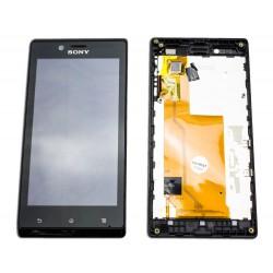 Pant. Táctil + LCD Sony Xperia J Negra ST26i / ST26a