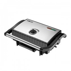 Sandwichera INOX Placa Lisa 1500W Temperatura Regulable MUVIP