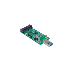 Tarjeta Adaptador/Conversor M2 mSATA a USB 3.0