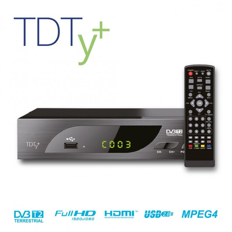 TDT HD Decodificador-Grabador DVB-T2 TDTy+ Biwond