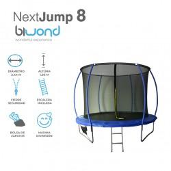 Trampolín Cama Elástica 2.44m NextJump 8 Biwond Azul