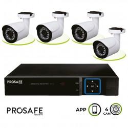 Kit Seguridad Grabador Vídeo Digital 4 Cámaras 4CH DVR6404 ProSafe