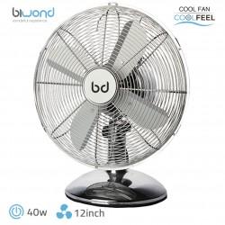 """Ventilador Sobremesa CoolFeel Metálico 40W 12"""" Biwond"""