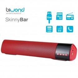 Barra de Sonido 10W SkinnyBar Biwond Rojo
