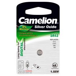 Boton Oxido plata SR43W 1.55V 0% Mercurio (1 pcs) Camelion