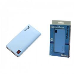 Batería Powerbank Cromad 5000mAh LCD 2.1A Azul